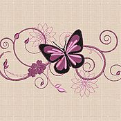 Материалы для творчества ручной работы. Ярмарка Мастеров - ручная работа Дизайн машинная вышивка Бабочка bt019. Handmade.