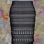 Одежда ручной работы. Ярмарка Мастеров - ручная работа юбка из хлопка Ажурные полосы. Handmade.