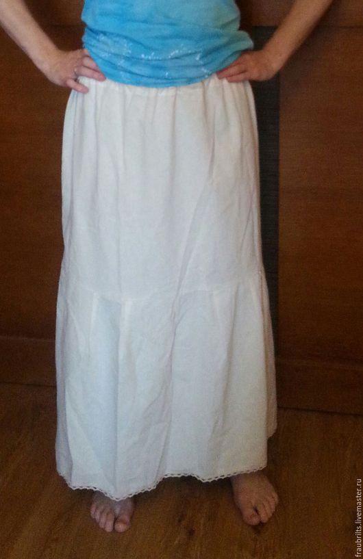 """Юбки ручной работы. Ярмарка Мастеров - ручная работа. Купить Юбка нижняя """"Льнушка"""". Handmade. Бежевый, юбка, женская одежда"""