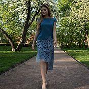 Одежда ручной работы. Ярмарка Мастеров - ручная работа Платье джинсовое короткий рукав. Handmade.