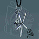 Кулон-брелок ручной работы из серебра 925, масштабная копия 1:72 легендарного советского боевого вертолета МИ-8.Винт вращается!!! Серебрянные кулоны ручной работы `CRAZY SILVER`, СПБ.