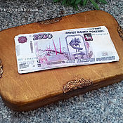 Для дома и интерьера ручной работы. Ярмарка Мастеров - ручная работа Купюрница-шкатулка Владивосток 2000. Handmade.