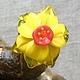 """Кольца ручной работы. Ярмарка Мастеров - ручная работа. Купить Кольцо """"Нарцисс"""". Handmade. Муранское стекло, цветы ручной работы"""