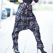 Одежда ручной работы. Ярмарка Мастеров - ручная работа Зимние брюки из хлопка с кружевом. Черные брюки. Брюки.. Handmade.