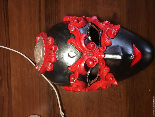 Интерьерные  маски ручной работы. Ярмарка Мастеров - ручная работа. Купить Венецианская маска. Handmade. Черный, серебро, маска
