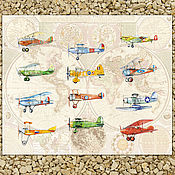 Pictures handmade. Livemaster - original item Planes and world map Poster 50h60 cm. Handmade.