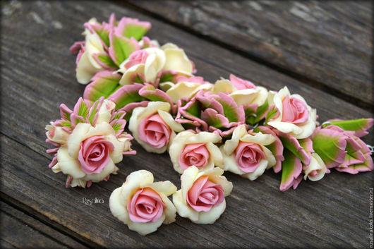 """Комплекты украшений ручной работы. Ярмарка Мастеров - ручная работа. Купить Комплект """"Нежные розы"""". Handmade. Бледно-розовый"""