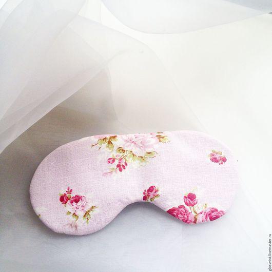 Белье ручной работы. Ярмарка Мастеров - ручная работа. Купить Маска для сна. Handmade. Бледно-розовый, маска для сна, сон