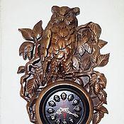"Для дома и интерьера handmade. Livemaster - original item Wall clock "" eagle-owl"". Handmade."