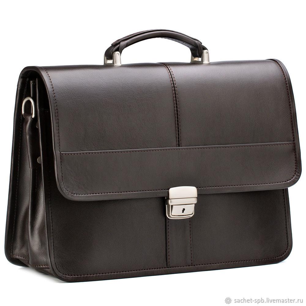Leather briefcase 'William' (brown), Brief case, St. Petersburg,  Фото №1