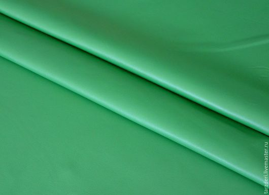 Шитье ручной работы. Ярмарка Мастеров - ручная работа. Купить Натуральная кожа для цветов 0,55 мм - Ярко-зеленая листва. Handmade.