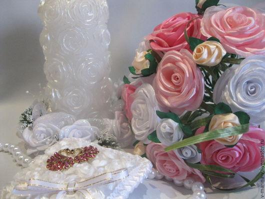 """Свадебные цветы ручной работы. Ярмарка Мастеров - ручная работа. Купить Свадебный комплект """"Нежность роз"""". Handmade. Свадьба"""