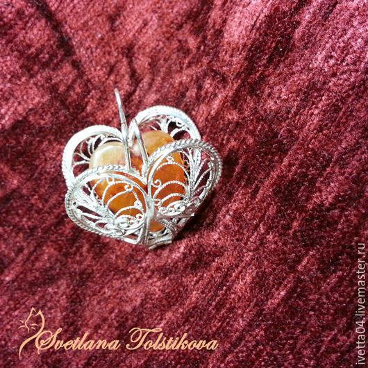 """Кулоны, подвески ручной работы. Ярмарка Мастеров - ручная работа. Купить Кулон-медальон """"Сердце"""". Handmade. Кулон с сердоликом, филигрань"""