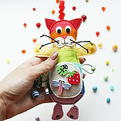 Куклы и игрушки handmade. Livemaster - original item Cat-rattle