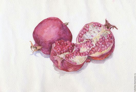 Натюрморт ручной работы. Ярмарка Мастеров - ручная работа. Купить Плоды граната. Handmade. Бордовый, гранат, плоды граната