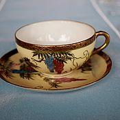 Винтаж handmade. Livemaster - original item Weightless coffee steam.Fukagawa.Japan.Hand painted.. Handmade.