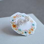 Украшения handmade. Livemaster - original item Silver ball stud earrings. Handmade.