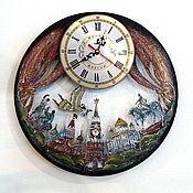 Clock Moscow Unusual Wall Clock Handmade Russian Souvenir Kupit Na Yarmarke Masterov Hvrgxcom Kartiny St Petersburg