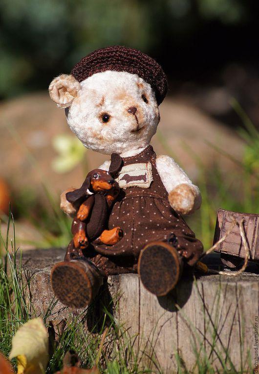 Мишки Тедди ручной работы. Ярмарка Мастеров - ручная работа. Купить Мишка Тедди Афоня (Афанасий). Handmade. Бледно-розовый