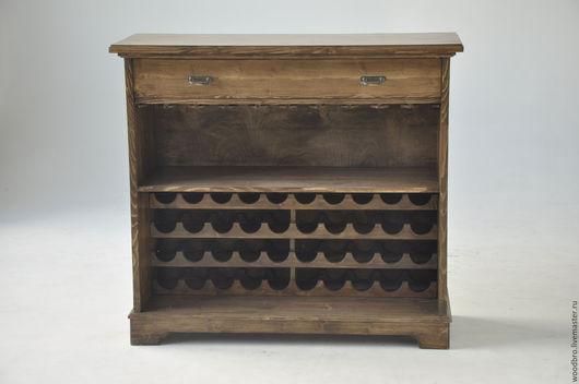 Мебель ручной работы. Ярмарка Мастеров - ручная работа. Купить Шкаф для вина и бокалов.. Handmade. Вино, барный шкаф