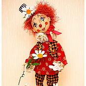 Куклы и игрушки ручной работы. Ярмарка Мастеров - ручная работа авторская кукла клоун- Я гадаю на ромашке. Handmade.