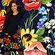 """Платья ручной работы. Ярмарка Мастеров - ручная работа. Купить Платье """" Летнее цветение """". Handmade. Тёмно-синий"""