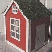 """Для дома и интерьера ручной работы. Ярмарка Мастеров - ручная работа Ночник """"Норвежский домик"""". Handmade."""