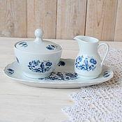 Винтажные сервизы ручной работы. Ярмарка Мастеров - ручная работа Royal Schwabap  Винтажный фарфоровый набор для чаепития. Голландия. Handmade.