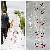 Свадебный салон handmade. Livemaster - original item Wedding sprig with red accents. Handmade.