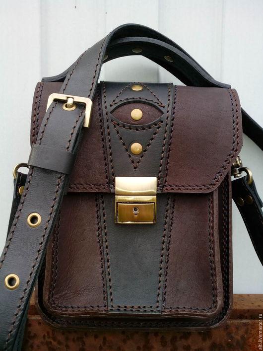 Мужские сумки ручной работы. Ярмарка Мастеров - ручная работа. Купить Мужская  сумка  из натуральной кожи № 24. Handmade.