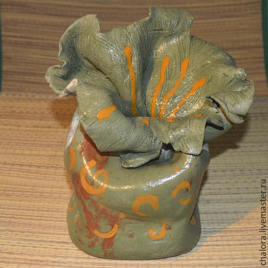 """Вазы ручной работы. Ярмарка Мастеров - ручная работа. Купить Ваза """"Зеленый цветок"""". Handmade. Оливковый, керамическая ваза"""