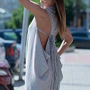 Одежда handmade. Livemaster - original item Jumpsuit, Jumpsuit striped Jumpsuit made of cotton, EUG. Handmade.