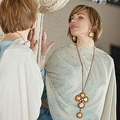 Украшения handmade. Livemaster - original item Necklace and earrings made of beads with sea shells ART.30678. Handmade.