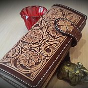 Сумки и аксессуары handmade. Livemaster - original item Leather purse, wallet, purse. Handmade.