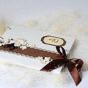 """Свадебный салон ручной работы. Ярмарка Мастеров - ручная работа Гостевая книга свадебная """" Шоколад на снегу"""". Handmade."""