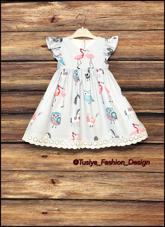 Детское платье с кружевом 3 варианта
