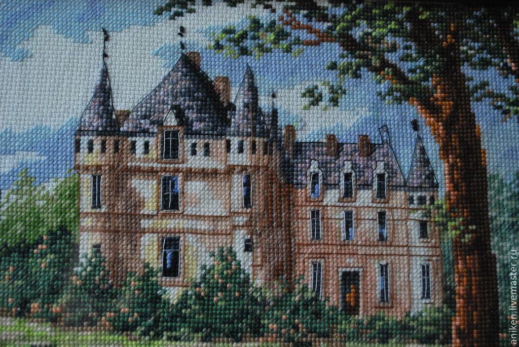 Вышивка замков домов
