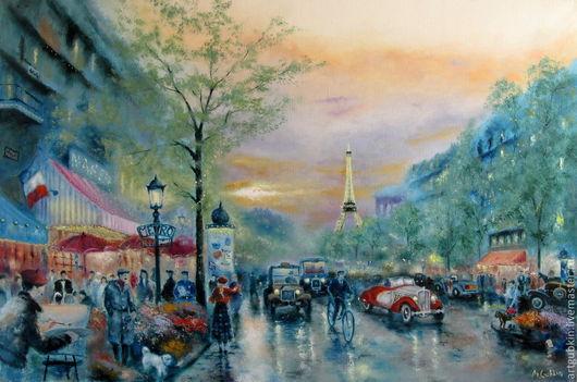 Город ручной работы. Ярмарка Мастеров - ручная работа. Купить Улицы Парижа (по мотивам).. Handmade. Париж, люди