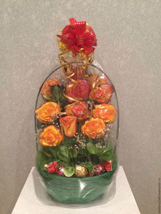 Букеты ручной работы. Ярмарка Мастеров - ручная работа. Купить Букет из  Пряников. Букет из конфет. Розы в подарок женщине девушке. Handmade.