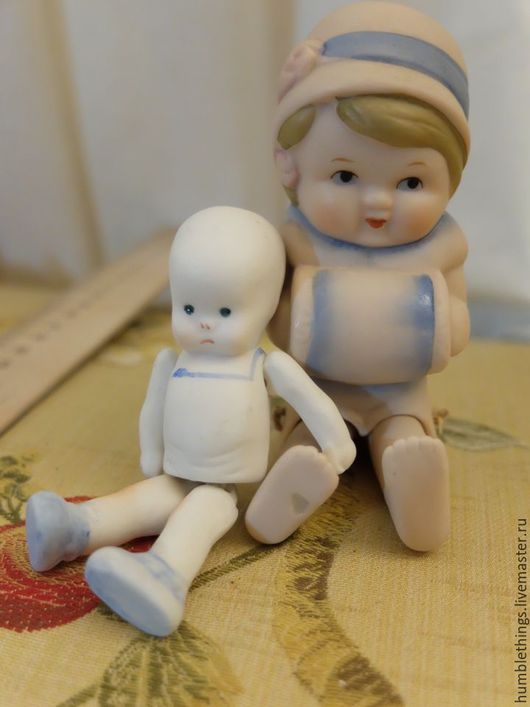 Коллекционные куклы ручной работы. Ярмарка Мастеров - ручная работа. Купить старинные куколки flapper. Handmade. Бежевый, фарфор, ручки