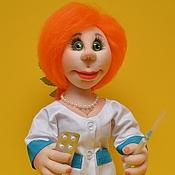 """Куклы и игрушки ручной работы. Ярмарка Мастеров - ручная работа Кукла """"Мед сестричка......медсестра"""" (№3) Скульптурный текстиль. Handmade."""