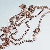 Материалы для творчества handmade. Livemaster - original item Chain with lock rose gold plating, 0.5 micron (22 carat). Handmade.