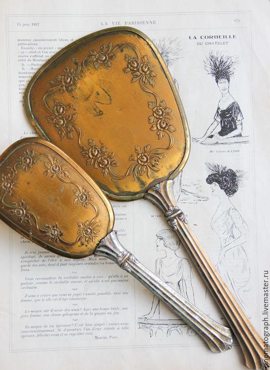 Винтажные предметы интерьера. Ярмарка Мастеров - ручная работа. Купить Старинный набор FRANCE антикварный. Handmade. Золотой, винтажный набор
