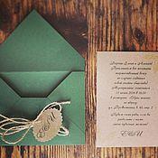 Свадебный салон ручной работы. Ярмарка Мастеров - ручная работа Свадебное приглашение в конверте. Handmade.