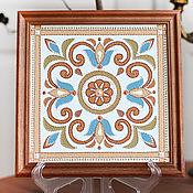 Картины ручной работы. Ярмарка Мастеров - ручная работа Декоративная плитка,  панно. Handmade.