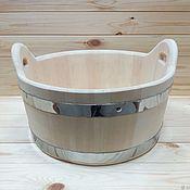 Бондарные изделия ручной работы. Ярмарка Мастеров - ручная работа Шайка деревянная 15 литров. Тазик для бани. Handmade.