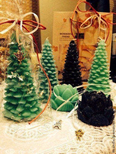 """Свечи ручной работы. Ярмарка Мастеров - ручная работа. Купить Свеча """"Елка"""". Handmade. Зеленый, подарок на новый год, подарок"""