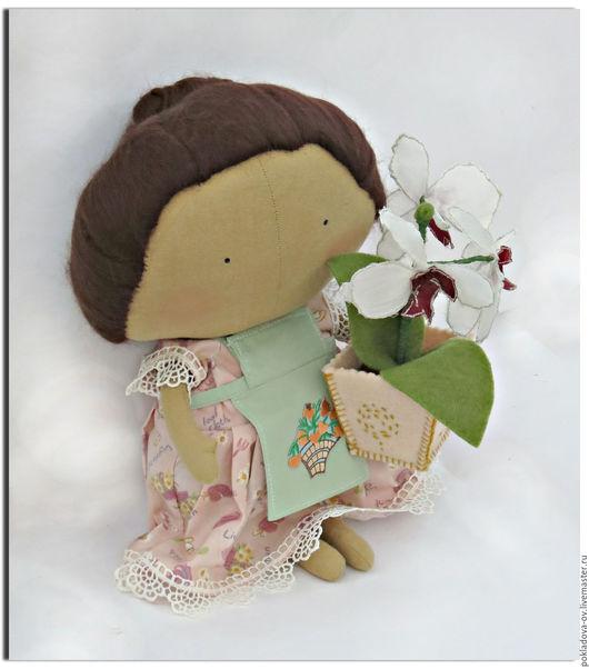 """Куклы Тильды ручной работы. Ярмарка Мастеров - ручная работа. Купить Кукла в стиле Тильда  """"Home sweet home"""" Цветочница. Handmade."""