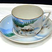 Винтаж handmade. Livemaster - original item Tea pair from the set Winter Dulyovo f-ka True 1920 No. №3. Handmade.
