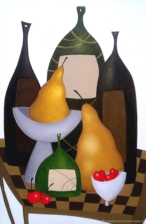 Натюрморт ручной работы. Ярмарка Мастеров - ручная работа. Купить Картина 'Три дня лета' маслом на холсте. Handmade. Желтый
